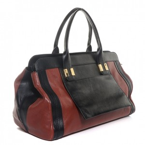 Chlo Chloe Leather Satchel in Red