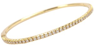 Tiffany & Co. Tiffany & Co 18K Yellow Gold Metro Diamond Hinged Bangle Bracelet