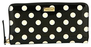 Kate Spade Kate Spade New York Neda Carisle Street Wallet Black/Cream Polka Dot