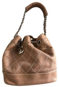 Chanel Drawstring Bucket Lambskin Shoulder Bag