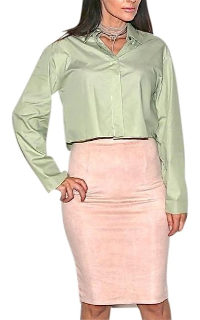 Preload https://item1.tradesy.com/images/chanel-green-blouse-size-6-s-19652425-0-1.jpg?width=400&height=650