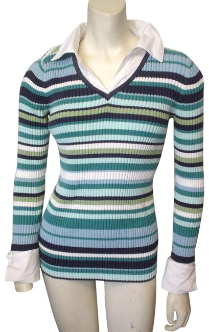 Preload https://img-static.tradesy.com/item/19652462/in-due-time-l-maternity-mock-twin-ls-striped-shirt-size-small-blues-green-white-sweater-0-3-650-650.jpg