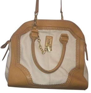 Emma Fox Satchel in Cream/Tan