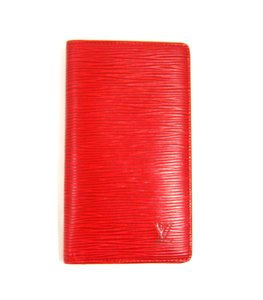 Louis Vuitton Epi Leather 3x Card Slot Bifold Long Wallet