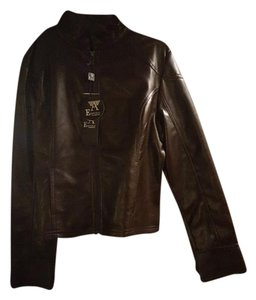 Emporio Armani Dark Brown Leather Jacket