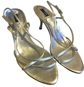 Bally Silver Pumps