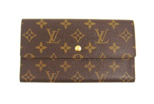 Louis Vuitton Monogram Canvas Leather International Long Clutch Wallet France