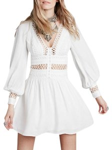 Free People Mini Open Trim Dress