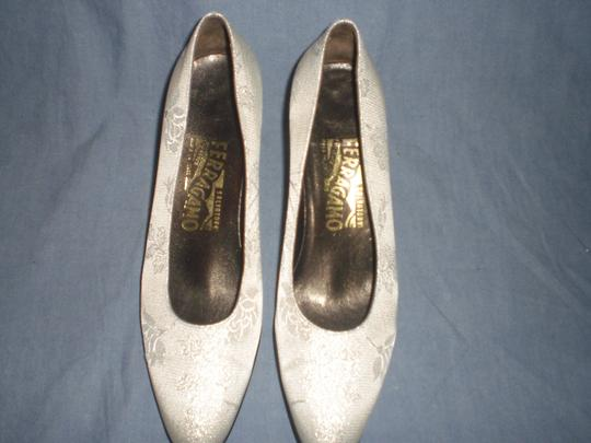 Salvatore Ferragamo silver Pumps