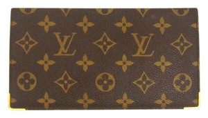 Louis Vuitton Vintage Monogram Canvas Leather Oversized Checkbook Wallet