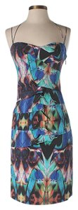 Nicole Miller Silk Print Shift Sheath Dress