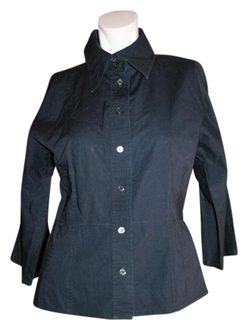 Preload https://item3.tradesy.com/images/blue-button-down-top-size-8-m-19652632-0-1.jpg?width=400&height=650