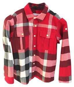 Burberry T Shirt Red plaid