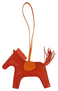 Hermès HERMES GRIGRI Rodeo MM Horse Charm Rouge Indien Rose Leather