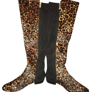 Vince Camuto Black/Brown/Black/Winter Leopard Boots