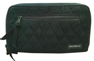 Vera Bradley Vera Bradley Black Quilted Wallet with Zipper Closure