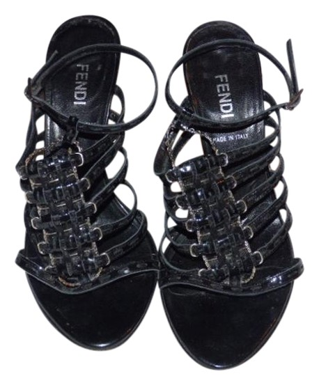 Preload https://item4.tradesy.com/images/fendi-textured-black-strappy-leather-and-silver-vintage-shoesdesigner-pumps-size-us-75-regular-m-b-19652868-0-1.jpg?width=440&height=440
