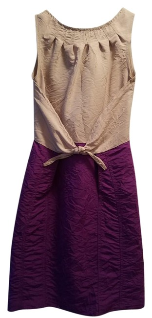 Preload https://item1.tradesy.com/images/richard-chai-for-target-purple-nude-a-line-dress-above-knee-short-casual-dress-size-0-xs-19652880-0-1.jpg?width=400&height=650