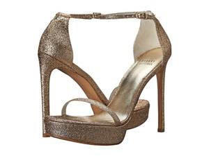 Stuart Weitzman Ankle Strap Buckle Closure AURORA SAND MINI GLITTER Sandals