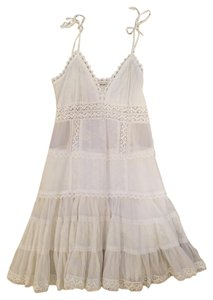 Forever 21 short dress White Sheer Cotton Strappy on Tradesy