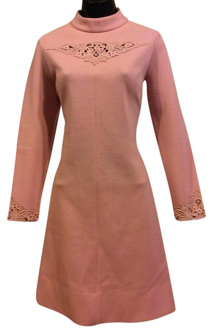 Preload https://item2.tradesy.com/images/pink-a-line-lace-trim-knee-length-cocktail-dress-size-8-m-19652941-0-1.jpg?width=400&height=650