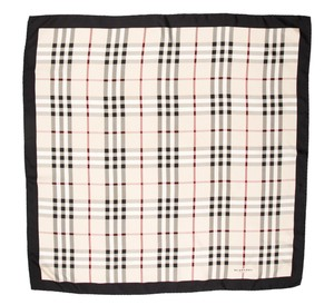 Burberry Black, beige Burberry Nova check plaid print silk scarf