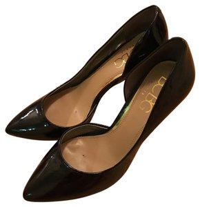 BCBG Paris D'orsay Patent Evening Black Pumps