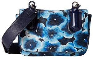Marc Jacobs Leather Floral Strap Cross Body Bag