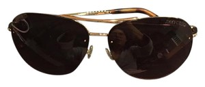 Jimmy Choo Jimmy Choo 'fran' Crystal Aviator Sunglasses