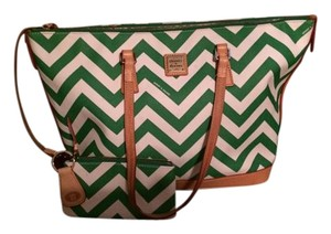 Dooney & Bourke Tote in Green and White