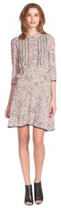Zadig & Voltaire short dress Pink Floral on Tradesy
