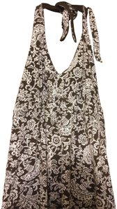 Ann Taylor LOFT Summer brown and white Halter Top