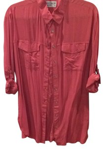 Cotton On Button Down Shirt Pink