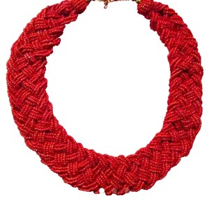 Other NEW Red Woven Beaded Necklace