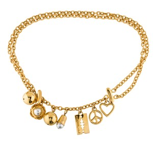 Moschino Gold-tone Moschino chain-link logo letters belt S Small