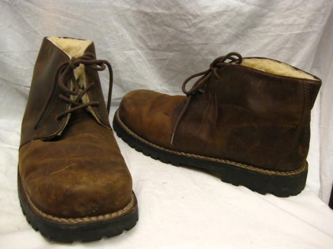 Item - Brown Leather/Shearling Boots 13 Shoes