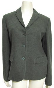 Calvin Klein Collection Made In Italy 10 M Wool Cashmere Alpaca Blazer Grey Moss Coat green gray Jacket