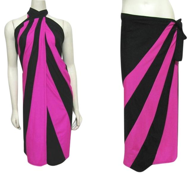 Item - Pink Black New Wrap Long Cover-up/Sarong Size 10 (M)