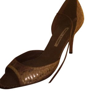 Manolo Blahnik Green and brown Formal