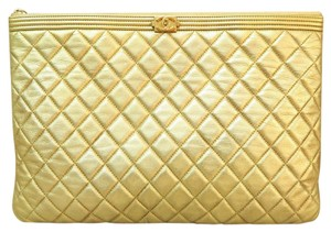 Chanel Large Handle gold Clutch