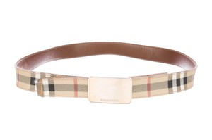 Burberry Beige, brown multicolor Burberry House check adjustable waist belt M