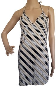 Burberry short dress Beige, Black Nova Check Plaid Monogram Sundress Swim Cover Up on Tradesy