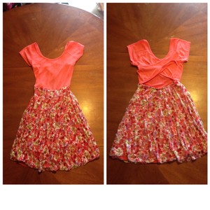 Wet Seal short dress Floral coral on Tradesy