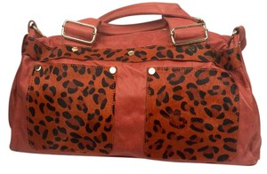 Calfskin Animal Print Cross Body Bag