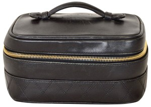 Chanel Vanity Case Cosmetics Satchel in Black