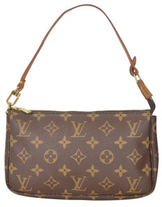 Louis Vuitton Lv Pochette Wristlet in Brown
