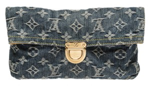 Louis Vuitton Louis Vuitton Blue Denim Monogram Amelia Wallet
