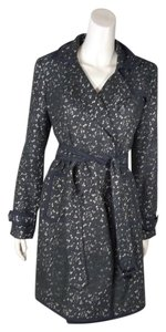 Banana Republic Br Lace Crochet Trench Belted Trench Coat