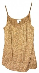 Ann Taylor LOFT Details Top Brown and Gold