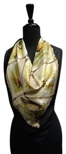 Gucci Gucci Beige Black Green And Brown Bird Varietyscarf One Silk Blend Sma7115